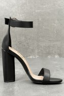 Kamali Black Ankle Strap Heels 3