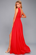 Heavenly Hues Red Maxi Dress 5
