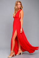 Heavenly Hues Red Maxi Dress 2