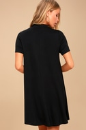 Meant to Be Black Mock Neck Swing Dress 3