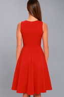 Hello World Red Midi Dress 7