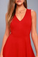 Hello World Red Midi Dress 8