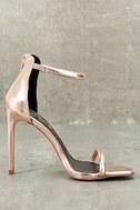 Keen Eye Rose Gold Ankle Strap Heels 3