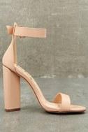 Kamali Nude Ankle Strap Heels 9