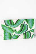 Frond of You Green Embroidered Sequin Clutch 2