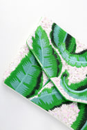 Frond of You Green Embroidered Sequin Clutch 3