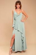 Be Mine Sage Green Maxi Dress 1