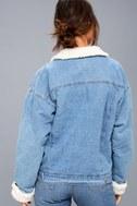 Mountain Chalet Medium Wash Denim Shearling Jacket 4