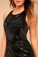 Luster of Life Black Sequin Backless Bodycon Dress 4