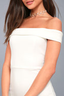 Charm and Delight White Off-the-Shoulder Bodycon Dress 5