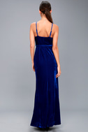Best of Both Black and Royal Blue Maxi Wrap Dress 3