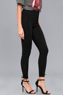 Zia Black Lace-Up Leggings 3