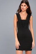 Filled with Love Black Lace Bodycon Dress 6