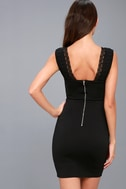 Filled with Love Black Lace Bodycon Dress 7