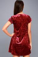 Nivea Wine Red Crushed Velvet Swing Dress 7