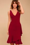 Modern Maiden Wine Red Midi Dress 3