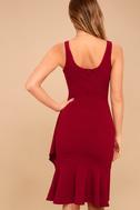 Modern Maiden Wine Red Midi Dress 4