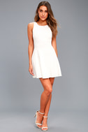 Craving You White Backless Skater Dress 5