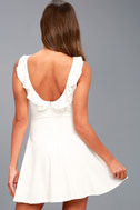 Craving You White Backless Skater Dress 7