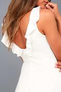 Craving You White Backless Skater Dress 8