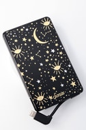 Cosmic Black Star Print Pick Me Up Portable Charger 1