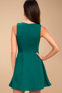 Lucai Teal Green Knotted Skater Dress 3