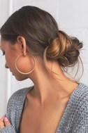 Alter Ego Gold Hoop Earrings 1