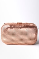 Avangeline Rose Gold Clutch 2
