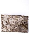 Dare to Dazzle Bronze Sequin Envelope Clutch 1