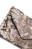 Dare to Dazzle Bronze Sequin Envelope Clutch 2