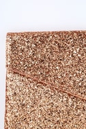 Pretty Little Thing Rose Gold Glitter Clutch 3