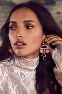 Cam Rose Pink Drop Earrings 3