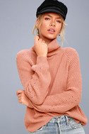 Park City Rusty Rose Cowl Neck Knit Sweater 1