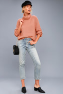 Park City Rusty Rose Cowl Neck Knit Sweater 2