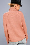 Park City Rusty Rose Cowl Neck Knit Sweater 3