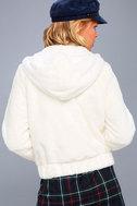 Soft Spot Cream Faux Fur Hoodie 4