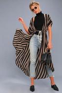 Tatiana Black Striped Kimono Top 1