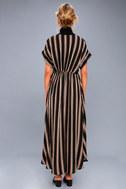 Tatiana Black Striped Kimono Top 3