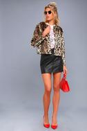 McKinley Brown Leopard Print Faux Fur Jacket 2