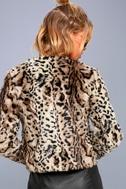 McKinley Brown Leopard Print Faux Fur Jacket 3