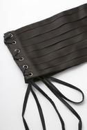 Betty Black Lace-Up Corset Belt 2