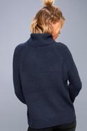 Park City Navy Blue Cowl Neck Knit Sweater 3