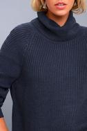 Park City Navy Blue Cowl Neck Knit Sweater 4