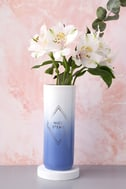 Nice Stems White and Blue Ombre Vase 4