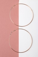 Come and Get It Rose Gold Hoop Earrings 3