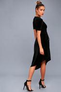 Kaylee Black Velvet Maxi Dress 2