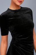 Kaylee Black Velvet Maxi Dress 4