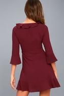 Somebody to Love Plum Purple Ruffled Flounce Sleeve Dress 3