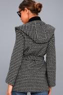 Ilora Black and White Hooded Jacket 3