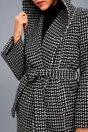 Ilora Black and White Hooded Jacket 4